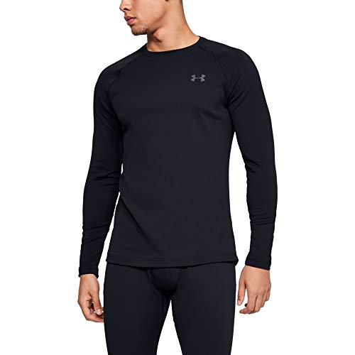 Under Armour Men's Packaged Base 2.0 Crew-Neck T-Shirt , Black (001)/Pitch Gray , X-Large