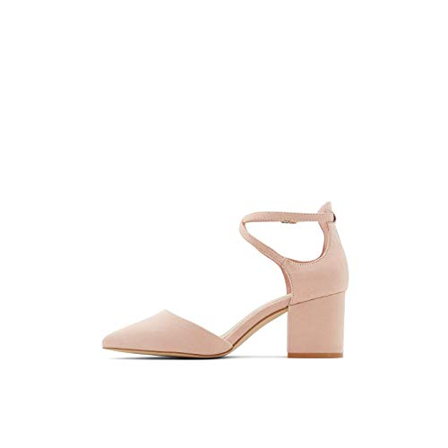 ALDO Women's Brookshear Block Heel Pump Dress Shoes, Light Pink, 5
