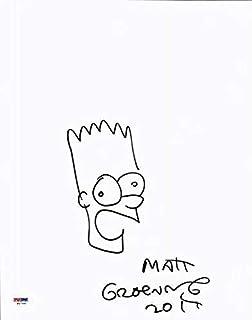 Matt Groening Signed 11X14 Bart Simpson Hand Drawn Sketch #W47591 - PSA/DNA Certified