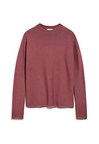 ARMEDANGELS MEDINAA - Damen Pullover aus Bio-Baumwolle M Cinnamon Rose Strick Pullover Regular fit