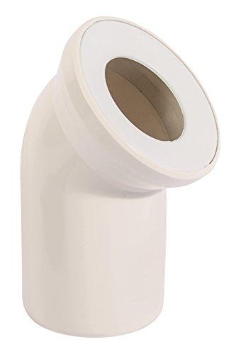 Sanitop-Wingenroth 21642 5 Anschlussbogen für Stand WC | Pergamon | 45 Grad | WC, Toilette