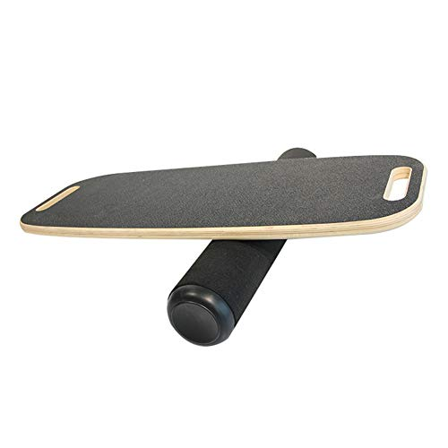 Poids max de lUtilisateur 100kg SportPlus Stimule tous les Muscles du Corps ! En Bois Balance board // Planche d/équilibre Surface antid/érapante Entra/înement de l/Équilibre et Coordination