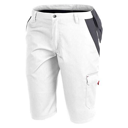 KÜBLER Workwear INNO Plus Shorts, Farbe: weiß/anthrazit, Größe: 54