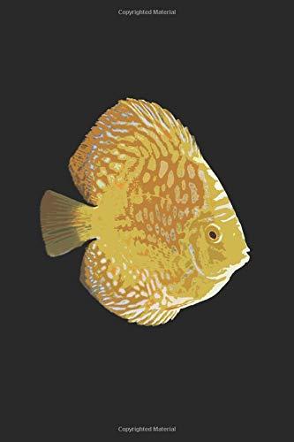 Discus: Notebook 6x9 Dot Grid Paper Journal 120 Pages • Manuscript • Planner • Scratchbook • Diary Discus Discusfish Aquarium Cichlid