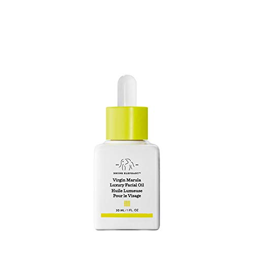 Drunk Elephant Virgin Marula Luxury Facial Oil - Gluten-Free and Vegan Anti-Aging Skin Care and Face Moisturizer (30 ml/1 Fl Oz)