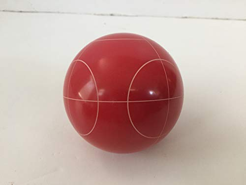 Replacement Bocce Ball - 107mm - Red with Circle Pattern