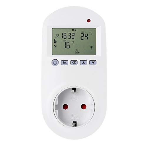 Yintiod WiFi Plug-in Thermostaat-stopcontact afstandsbediening spraakbesturing vloerverwarming temperatuurregelaar 16A 230V EU-stekker