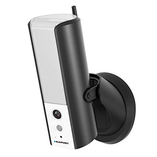 Blaupunkt Lampcam HOS-X20 mit 8 GB MicroSD Karte Full-HD Videoüberwachung und dimmbare LED-Außenleuchte mit Bewegungssensor, Hören und Sprechen via gratis App, Push-Nachrichten, IP55 Schutzklasse