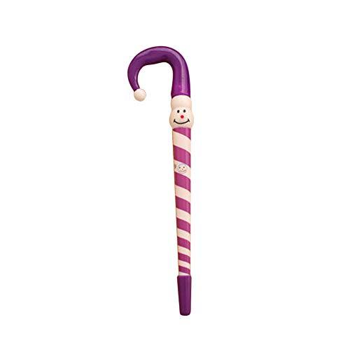 tianxiangjjeu Suministros de escritura 4pcs Navidad muñeco de nieve paraguas bastón bolígrafo papelería Navidad ornamento presente color al azar