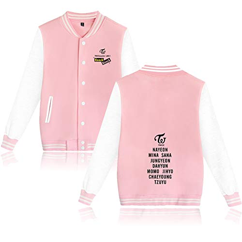 KPOP Twice Baseball Chaqueta Tops Knock Knock Imprimiendo Sudadera Jacket Outerwear...