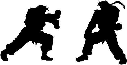 Street Fighter Ryu Ken Fighting Vinyl Decal Sticker Bumper Car Truck Window- 6