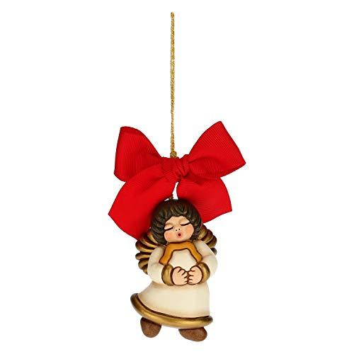 THUN - Addobbo per Albero di Natale con Stella - Decorazioni Natale Casa - Formato Grande - Ceramica - 5 x 3,5 x 7 h cm