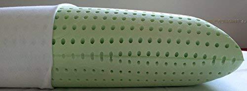 Alpenwolle Almohada cervical de 18 cm de alto, de espuma viscoelástica con aceites esenciales, 72 x 42 x 18 cm