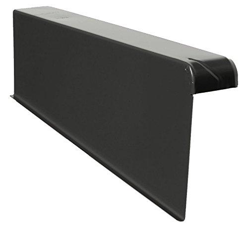 Windschutz-Ortgänge Ortgang Ortgangblech Aluminium 6/16 + Schraube (rechts, FB-Schwarz)
