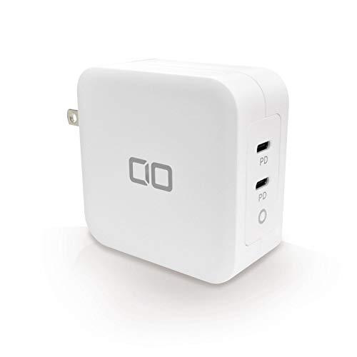 CIO 100W 2ポート 充電器 GaN USB ACアダプター USB-C 急速充電器 軽量 タイプC iPhone Android Macbook Pro iPad Pro
