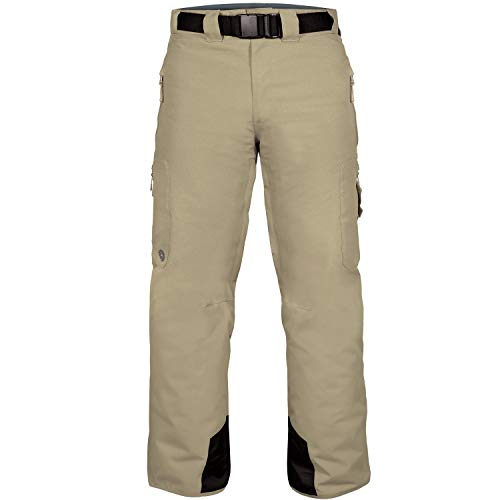 Wildhorn Bowman Insulated Snowboard & Ski Pants - Windproof Waterproof Men's Snow Pants Khaki