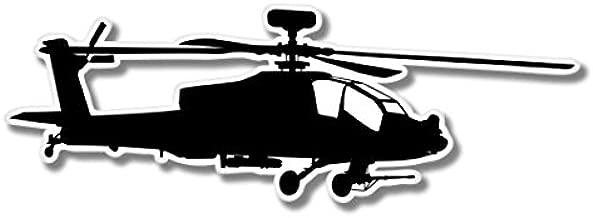 AK Wall Art Military Helicopter Chopper Vinyl Sticker - Car Window Bumper Laptop - Select Size
