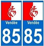 autocollant plaque immatriculation département Vendée 85 blason
