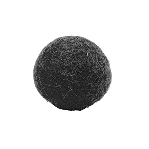Felt Balls Pompoms DIY Wool Ball Decoration Felt Monochromatic Small for Felt Garland Indoor Decorations Black 1.5cm
