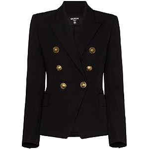 Balmain Luxury Fashion Damen UF17110167L0PA Schwarz Wolle Blazer | Herbst Winter 20