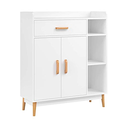 White Shelf Unit With Doors