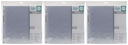 3-PACK - We R Memory Keepers 12 x 12 inch 3-Ring Album Page Protectors, 10ct / pack