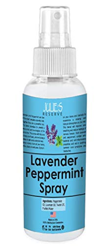 Peppermint Lavender Room & Linen Spray Air made with Pure Peppermint Essential oil Freshener Mist 100% Natural Aromatic Mist Organic Linen Relax Body & Mind Odor Eliminator (Peppermint, 4 oz)