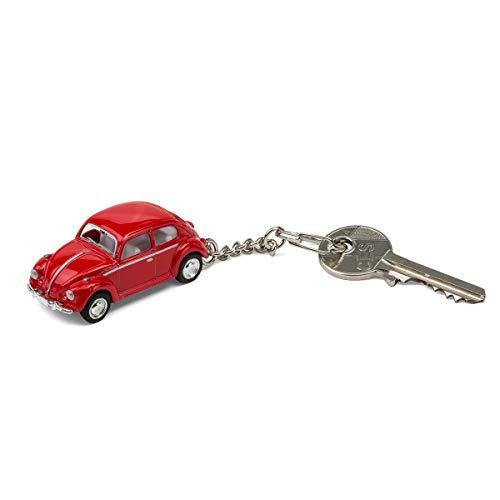 corpus delicti :: Schlüsselanhänger mit VW Käfer Modellauto für alle Auto- und Oldtimerfans (rot) (20.7)