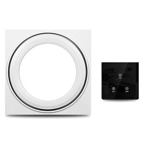 Ventilador de Techo Integrado con luz Dos en Uno Led Luminoso de Silencio Extractor de baño Ventilador de ventilación (Color : Silver, Size : D)