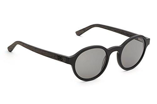 TAKE A SHOT Sonnenbrille Leto: Schwarzes Eichenholz TAS Holz-Sonnenbrille