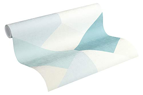 Esprit Vliestapete Afternoon Haze Tapete geometrisch grafisch 10,05 m x 0,53 m blau grau beige Made in Germany 365222 36522-2
