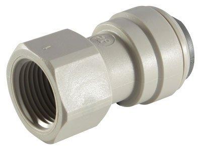 JOHN GUEST - 5/16 ',' OD tubo 1/2 'BSP-Adattatore filettato femmina BSPP, estremità piatte, con Push-in accessori, imperiale)