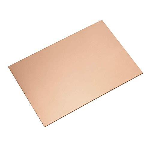 SZQL 99,9% reines Kupfer Blechplatte, bearbeitbaren Kupferbleche für Schmuck, Kunsthandwerk, Reparaturen, Emaillieren,35x50mm,3mm