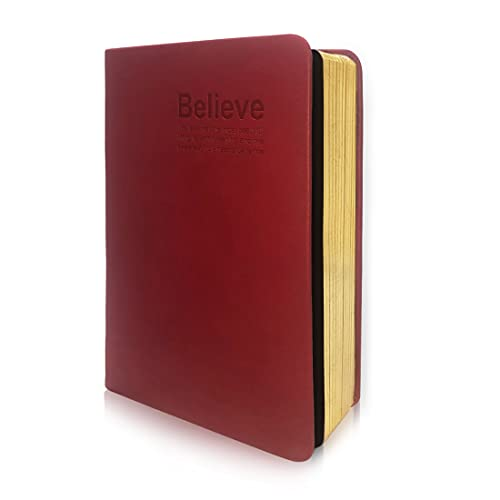 HARDCOVER JOURNAL Writing Notebook - Antique Handmade HARDCOVER Bound Daily Notepad,Walt Bloom Series, (S, Red)