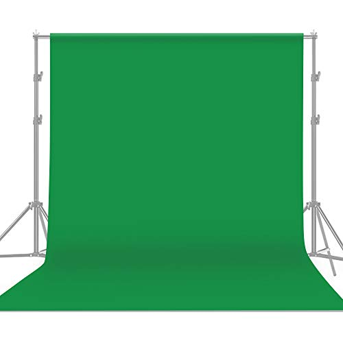 Andoer 3*3 m / 10 * 10 pies Telón de fondo de pantalla verde profesional Fotografía de estudio Fondo Lavable Durable Tejido de poliéster-algodón Diseño sin costuras de una pieza para retratos Disparo
