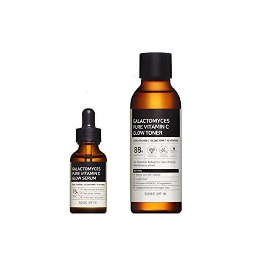 Somebymi Galactomyces Natural Pure Vitamin C Glow For Facial Whitening & Skin Balancing (Toner + Serum)