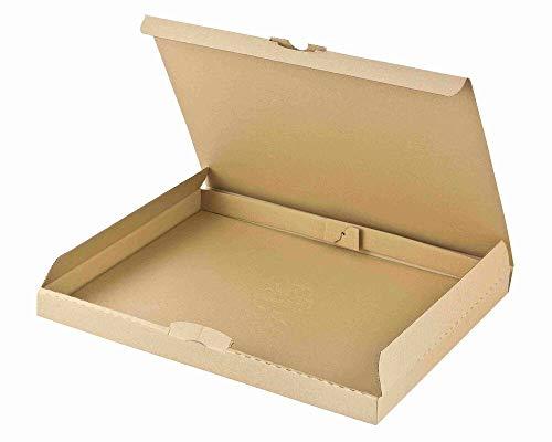 Maxibriefkarton DHL briefkastentauglich Höhe 3cm 310x225x30mm Din A4 braun, 50 Stück