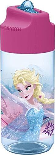 p:os 24657088 - Trinkflasche, Disney Frozen, transparent mit Strohhalm, ca. 450 ml