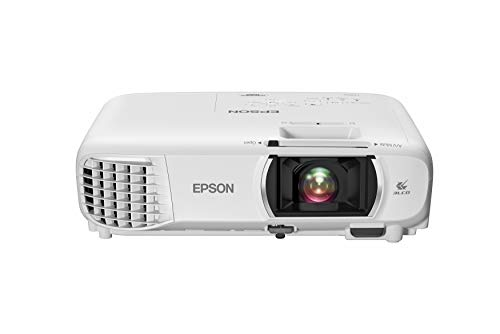 Epson Home Cinema 1080 3-chip 3LCD 1080p Projector, 3400 lumens Color and White Brightness, Streaming/Gaming/Home Theater, Built-in Speaker, Auto Picture Skew, 16,000:1 Contrast, Dual HDMI, White