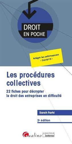 Les procédures collectives : 22 fiches pour décrypter le droit des entreprises en difficulté
