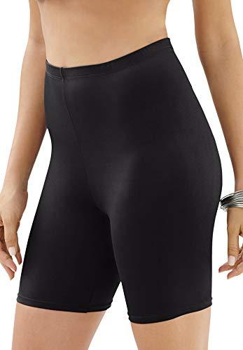 Swimsuits For All Women's Plus Size Swim Bike Short Swimsuit Bottoms - 30, Black