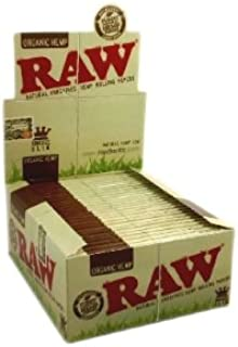Raw King Size Slim Organic Rolling Papers 5 packs