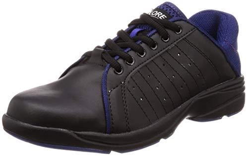 [クロスプロレ] かかと踏める作業靴 作業靴 メンズ ブラック/パープル 24.5 cm 3E