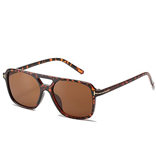 Lsdnlx Gafas de Sol,Gafas de Sol Mujer HombreBlue Sliver Sun glassses Oversized tomuv400