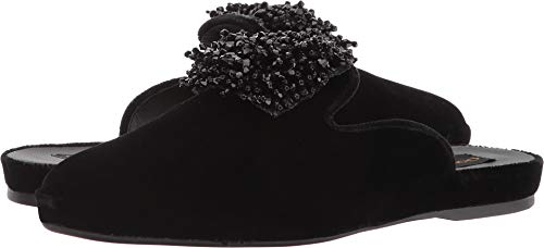 Donna Karan Cara Mule Black Velvet 6.5