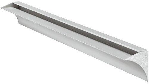 Gedotec Tablarträger Wandschiene Glas-Bodenträger Wandkonsole für Glasböden | Regalbodenträger mit 35 kg Tragkraft | Tablardicke 8 mm | Regalträger Alu silber eloxiert | 1 Stück Regalhalter Aluminium