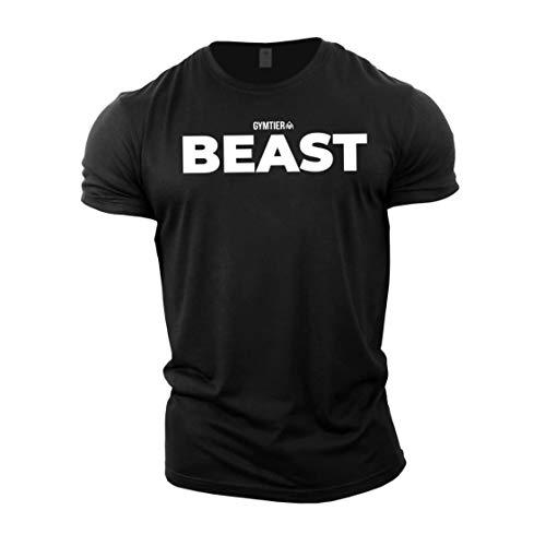 GYMTIER Beast - Bodybuilding-T - Shirt | Herren Fitness T-Shirt Muskelshirt Trainingsbekleidung