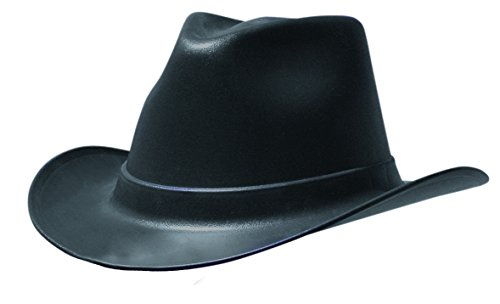OccuNomix VCB100-06 Cowboy Style Hard Hat with Squeeze Lock Suspension, One Size Fits Most, Black