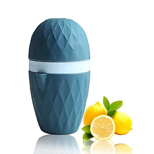 Spremiagrumi Manuale al Limone, Spremiagrumi a Mano, Spremi Agrumi Manuale, Due Opzioni di Spremitura per Diversi tipi di Frutta, Spremifrutta para Limone, Arancia, Pompelmo (Blu)