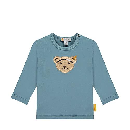 Steiff Longsleeve Camiseta, Adriatic Blue, 9 Mes para Bebés